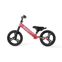 2017 Velobici Boot'R V2 Anodised Aluminium Balance Kids Bike Crimson Running 1.9Kg