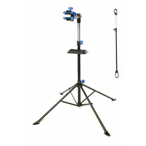 BIKE REPAIR WORK STAND WITH BONUS TOOL TRAY FOR HOME BICYCLE MECHANIC QUICK RELEASE BLUE VELOBICI