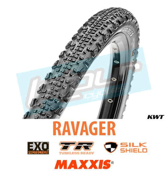 Maxxis Ravager 700x40mm Tire 120tpi Dual Compound EXO Casing Tubeless MTB