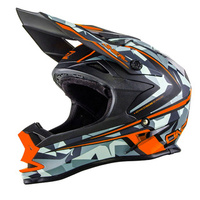 Oneal 2017 7 Series Evo Camo Helmet Matt Grey/Orange