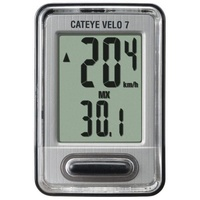 Cateye Velo-7 Bicycle Bike Cycle Computer VL520 Speed Wired