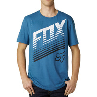 Fox Racing Men'S T Shirt Downhall Premium Tee Blue