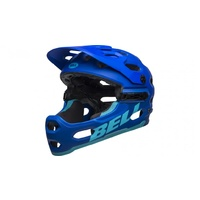 2019 Bell Super 3R MTB Helmet With Mips Matte Blue-Bright Blue