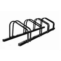 1 - 4 Bike Floor Parking Rack Storage Stand Bicycle Black