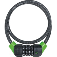 CITADEL CS80/10/C/B CABLE WITH COMBINATION LOCK 80CM Black/Green