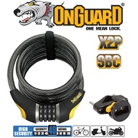 Onguard Bike Bicycle Lock Doberman Series - Coiled Combo - 185cmx12mm