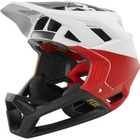 2019 FOX Fox Racing Proframe Pistol Full Face MTB Bike Helmet White/Black/Red