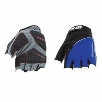 Bellwether Mens Gel Flex Palm Cycling Fingerless Gloves Large Blue