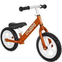 Cruzee Two 12 Aluminium Balance Kids Bike Bicycle Orange