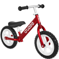 "Cruzee Two 12"" Aluminium Balance Kids Bike Bicycle Red"