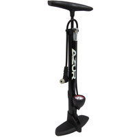 Azur Alloy Clever Valve Bike Floor Pump Black