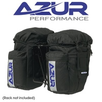 Azur Bike Bicycle Commuting Pannier Rear Bag Blk Pair