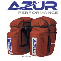 Azur Bike Bicycle Commuting Pannier Rear Bag Red Pair