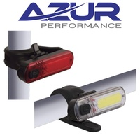 Azur USB ET Front & Rear 8 modes Bike Cycling Bicycle Light Set Combo