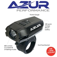 Azur 400 Lumen Usb Rechargeable Bike Cycling Bicycle Head light 6 Modes