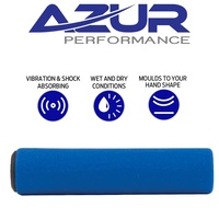 Azur Silicone Bike Handlebar Replacement Grips 130mm Bicycle Grips Pair Blue