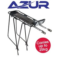 Azur Bicycle Rear Pannier Rack Alloy Touring Bike Carrier Black