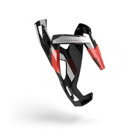 Elite Custom Race Plus Bottle Cage Gloss Black Red Rubber