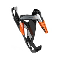 Elite Custom Race Plus Bottle Cage Gloss Black Orange