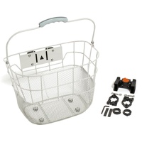 Front Bicycle Bike Basket Q/R White