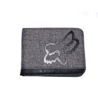 FOX RACING MEN'S CRAMPED WALLET - BLACK