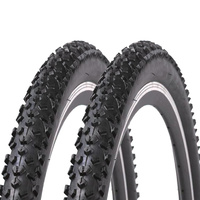 "Two Freedom 27.5 x 2.25"" Black Diamond Puncture Resistant Mountain Bike Tyre Pair"