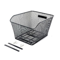 Bike Bicycle Rear Wire Mesh Basket For Hybrid Flat Bar Or Mountain Bike