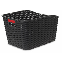 Velobici Wicker Weave Rear Plastic Bicycle / Bike Basket for Pannier Rack