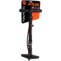 Jetblack Little Fella Bicycle Bike Floor Pump With 2-Way Head
