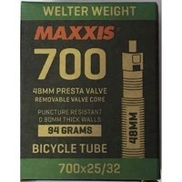 "Maxxis Welter Weight 700 x 25/32""  Presta Valve Tube 48mm"
