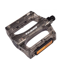 Exustar BMX Bicycle Pedals Plastic Black