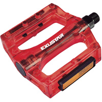 Exustar BMX Bicycle Pedal Plastic Red