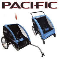 Pacific Bicycle Deluxe 2 In 1 Kids BikeTrailer Stroller 2 Child