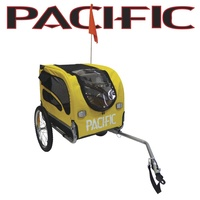 Pacific Pet Bike Trailer for Dogs or Cats or any other pets Yellow Black