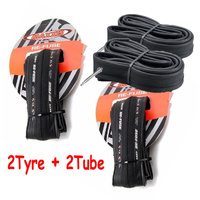 2 X Maxxis Re-Fuse Folding Road Bike Tyre 700 X 23C Refuse Black+ 2X Tube