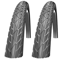 "Two Impac StreetPac 26 x 1.75"" Hybrid Bike Tyres (Made by Schwalbe) PAIR"