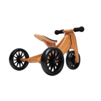 Kinderfeets Wooden 2-In-1 Tiny Tot PLUS Trike/Tricycle/Balance Bike - Bamboo