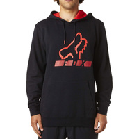 Fox Racing New Mx Triangulate Black Adult Moto Winter Fleece Pullover Hoodie