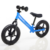 "Boot'R 12"" Steel Balance Toddler Kids Bike Blue Bootr Light Weight"