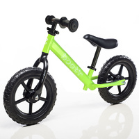 "Boot'R 12"" Steel Balance Toddler Kids Bike Green Bootr Light in Weight"