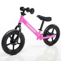 "Boot'R 12"" Light Weight Steel Balance Toddler Kids Bike Pink Bootr"