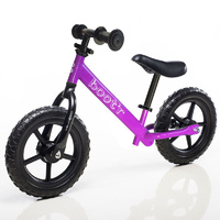 "Boot'R 12"" Light Weight Steel Balance Toddler Kids Bike Purple Bootr"