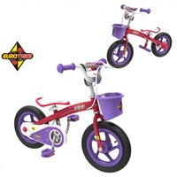 "NEW EUROTRIKE ZIPP 2 IN 1 BALANCE & PEDAL BIKE 12"" KIDS LEARNING BICYCLE PURPLE"
