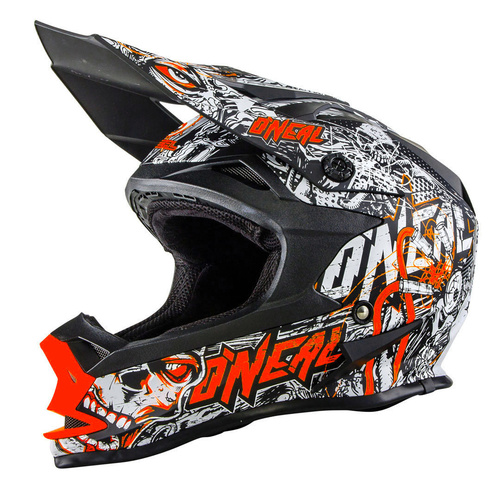 Oneal 2017 7 Series Evo Menace Helmet Matt Black/Neon Orange [Size: Medium]